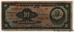 10 Pesos MEXIQUE  1961 P.716i B+