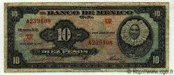 10 Pesos MEXIQUE  1963 P.716j TB