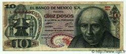 10 Pesos MEXIQUE  1977 P.724i TB à TTB