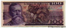 100 Pesos MEXIQUE  1978 P.727Aa TTB à SUP