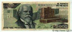 2000 Pesos MEXIQUE  1987 P.744a TTB+