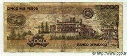 5000 Pesos MEXIQUE  1987 P.746b TB+