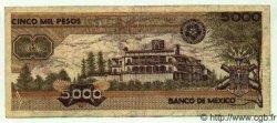 5000 Pesos MEXIQUE  1989 P.746c TTB+