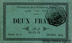 2 Francs MAROC  1919 P.07a TTB+