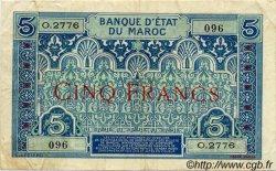 5 Francs MAROC  1930 P.09 TTB