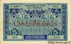 5 Francs MAROC  1942 P.09 pr.SUP