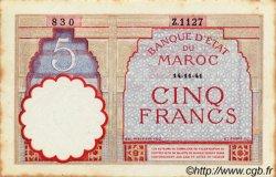 5 Francs MAROC  1941 P.23Ab SUP