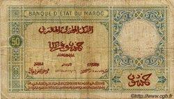 50 Francs MAROC  1924 P.13 B+