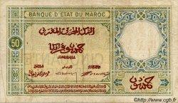 50 Francs MAROC  1924 P.13 TB+