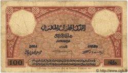 100 Francs MAROC  1925 P.14 B à TB