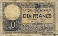 10 Francs MAROC  1929 P.17a B