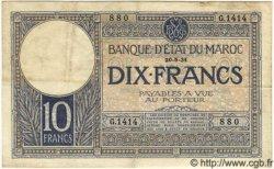 10 Francs MAROC  1931 P.17a TB+ à TTB