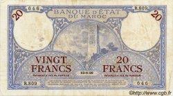 20 Francs MAROC  1929 P.18a TB