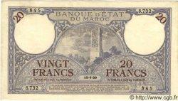 20 Francs MAROC  1929 P.18a SUP+