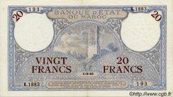 20 Francs MAROC  1945 P.18b TTB+