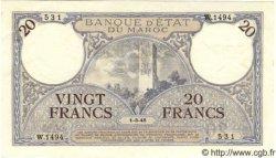 20 Francs MAROC  1945 P.18b SPL