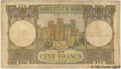100 Francs MAROC  1938 P.20 pr.TB
