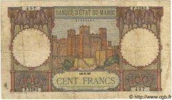 100 Francs MAROC  1946 P.20 pr.TB