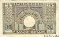 50 Francs MAROC  1936 P.21 TTB