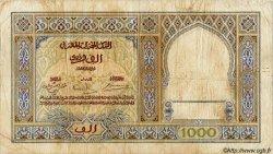1000 Francs MAROC  1938 P.16c TB