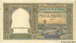 1000 Francs MAROC  1945 P.16s SUP