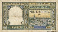 1000 Francs MAROC  1945 P.22c B