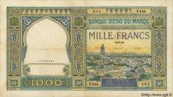 1000 Francs MAROC  1946 P.22c TB