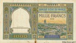 1000 Francs MAROC  1949 P.22c pr.TB