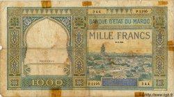 1000 Francs MAROC  1950 P.22c AB