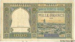 1000 Francs MAROC  1950 P.22c B à TB