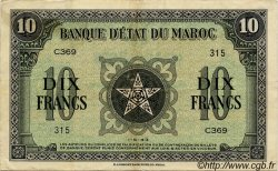 10 Francs MAROC  1943 P.25 TTB