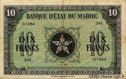 10 Francs MAROC  1944 P.25 TTB