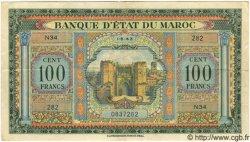 100 Francs MAROC  1943 P.25 TTB