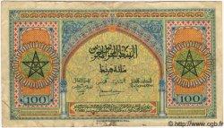 100 Francs MAROC  1944 P.25 TB