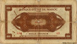 1000 Francs MAROC  1943 P.26 B