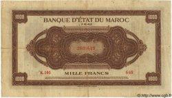 1000 Francs MAROC  1943 P.26 pr.TTB
