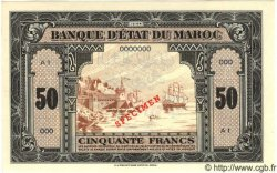 50 Francs MAROC  1944 P.29s NEUF