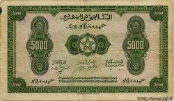 5000 Francs MAROC  1943 P.32 TB