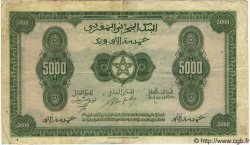 5000 Francs MAROC  1943 P.32 TB+ à TTB