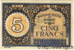 5 Francs MAROC  1943 P.33 SUP