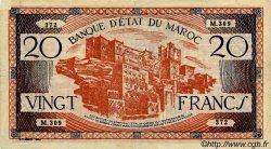 20 Francs MAROC  1943 P.39 TTB