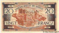 20 Francs MAROC  1943 P.39 SUP