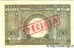 50 Francs MAROC  1949 P.44s NEUF