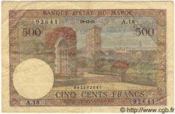 500 Francs MAROC  1956 P.46 TTB