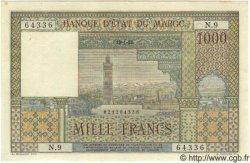 1000 Francs MAROC  1952 P.47 SUP