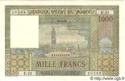 1000 Francs MAROC  1956 P.47 SUP+