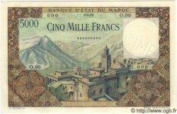 5000 Francs MAROC  1955 P.49s SPL+