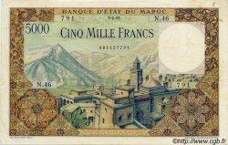 5000 Francs MAROC  1953 P.49 TTB+