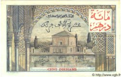 10000 Francs / 100 Dirhams MAROC  1955 P.52 TTB+