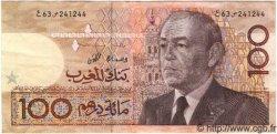 100 Dirhams MAROC  1987 P.65 TTB